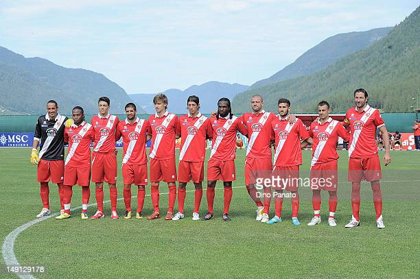 Grosseto players poses before the preseason friendly match between SSC Napoli and US Grosseto on July 23 2012 in Dimaro near Trento Italy