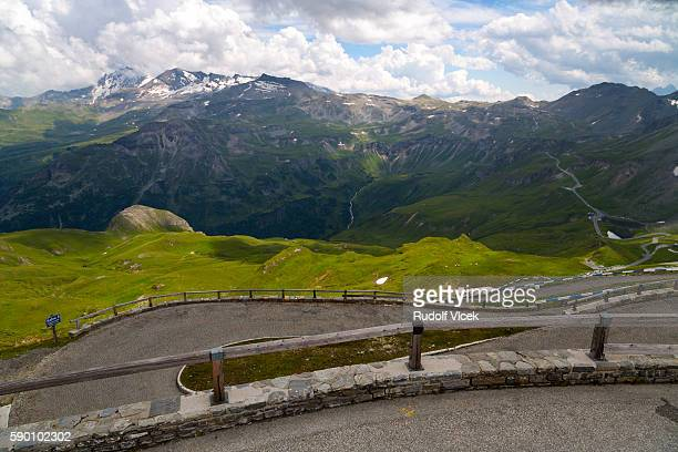 Grossglockner high alpine road, road on Edelweißspitze viewpoint, Austria