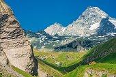 Grossglockner Summit Austria. Austrian Alpine Summer Scenery.