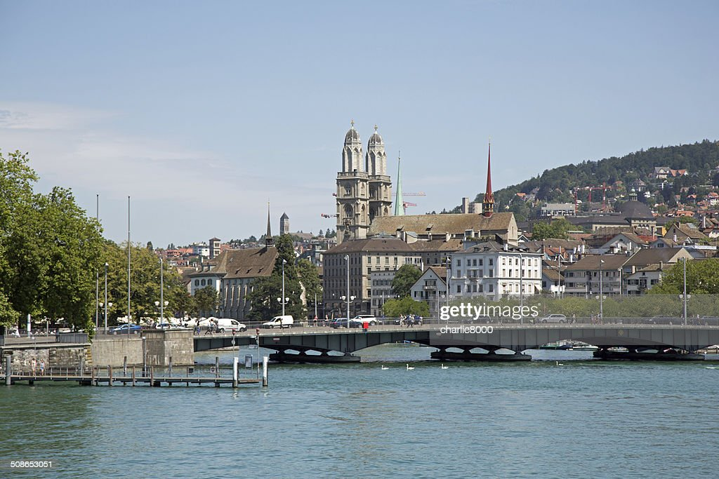 Grossmunster Church in Zurich : Stock Photo