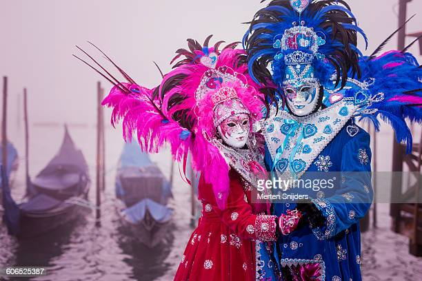 Grotesque costumes at Carnival of Venice