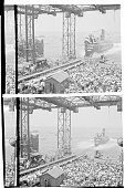 USS Seawolf Launched Crowds at the Groton Connecticut shipyards of General Dynamics Corporation watch the USS Seawolf slide into the Thames River in...