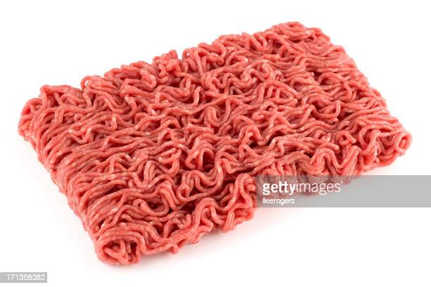 Ground beef isolated on a white background