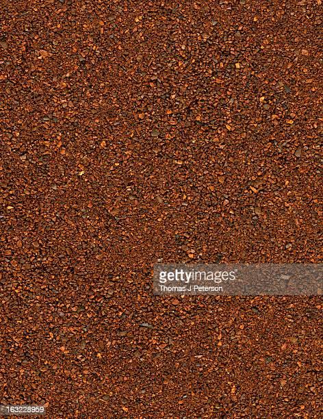 Ground coffee, close up
