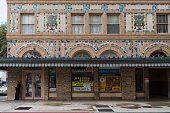 Ground level of the historic Hamilton Hotel the tallest building in Laredo Texas