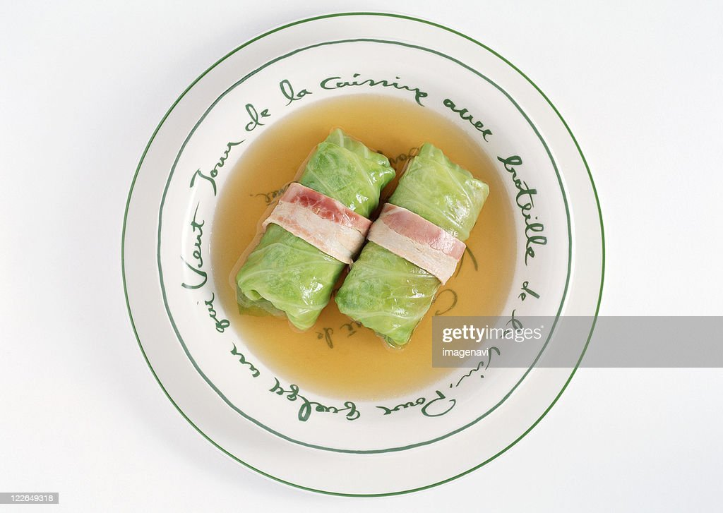 Ground Meat Rolled in Cabbage Leaves