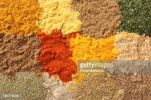 Ground spices and herbs