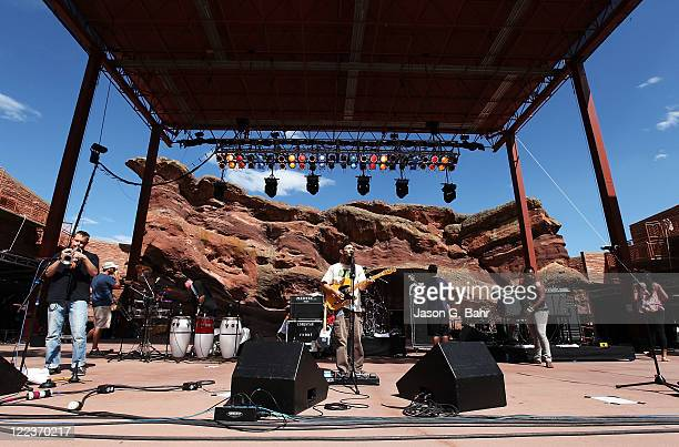 Groundation performs at Red Rocks Amphitheater during the Reggae on the Rocks music festival on August 27 2011 in Morrison Colorado