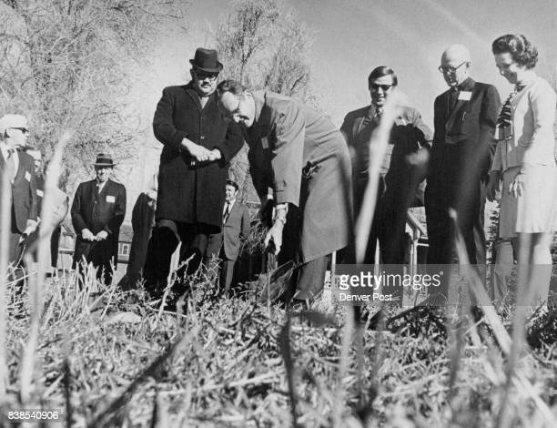 Groundbreaking Marks Start Of $5 Million Housing Project In Denver At ceremonies from left were Rabbi Victor Amster the Rev William Weir Roger Olson...