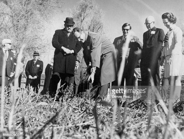 Groundbreaking Marks Start of $5 Million Housing Project In Denver At ceremonies from left were Rabbi Victor Armster the Rev William Weir Roger Olson...