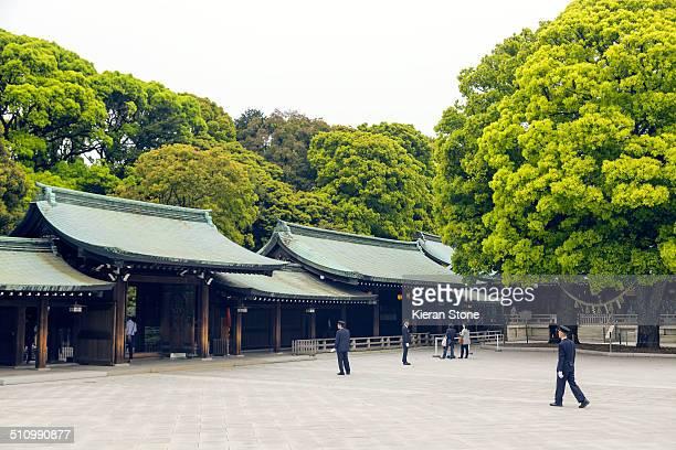 Grounds of Meiji Jingu Shrine Tokyo Japan