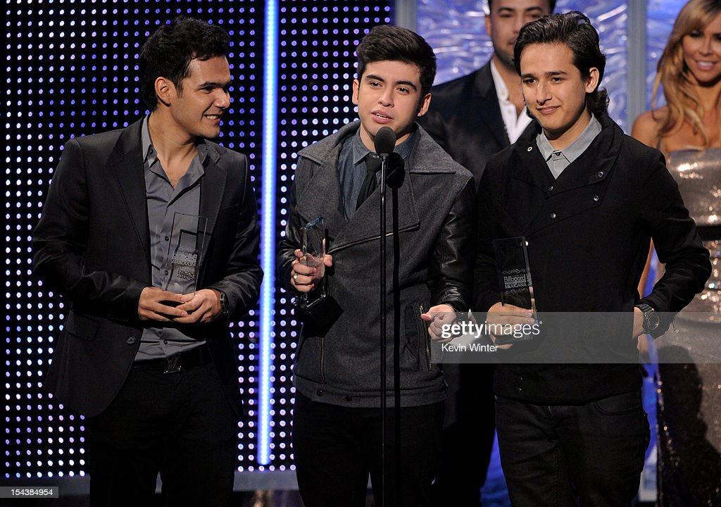 DJ group 3BallMTY receives the Artista Del Ano Debut at the Billboard Mexican Music Awards presented by State Farm on October 18, 2012 in Los Angeles, California.