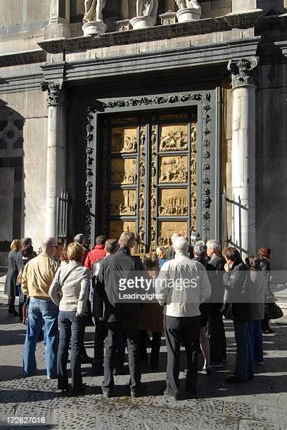 Groupe au Baptistry portes, Florence
