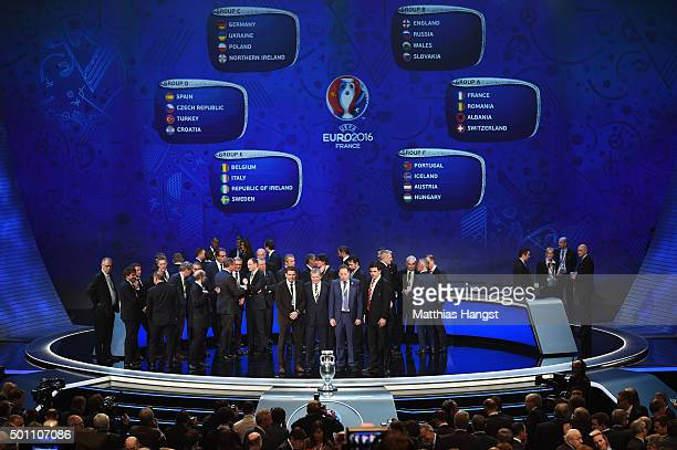 Group B managers Stefan Tarkovic Assistant coach of Slovakia Roy Hodgson Manager of England Leonid Slutski Manager of Russia and Chris Coleman...