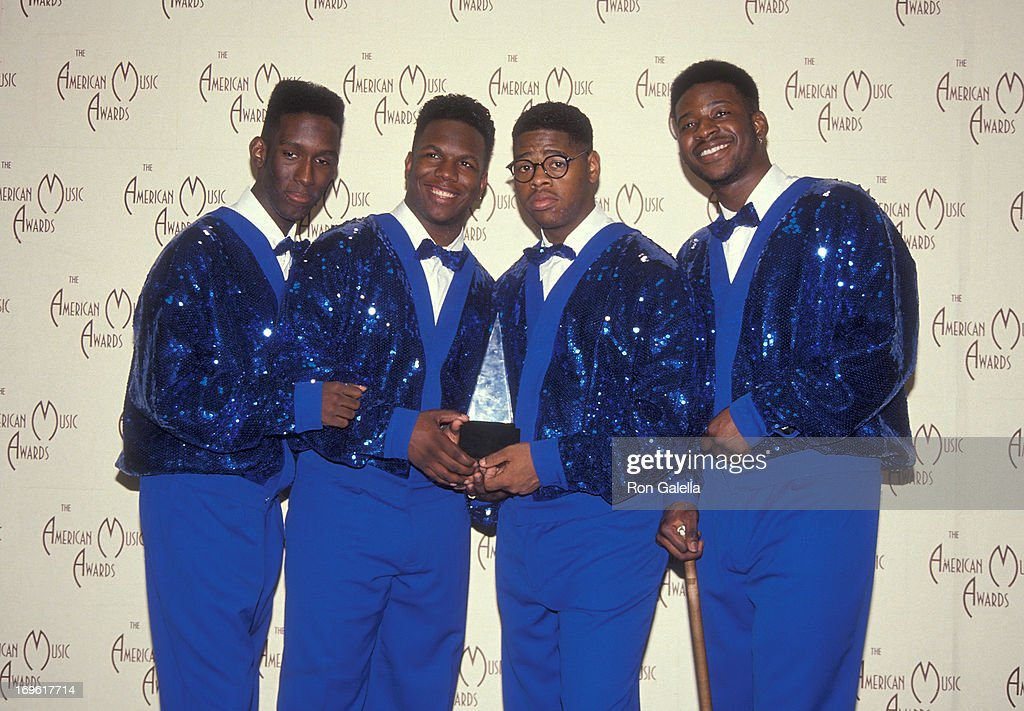 R&B group Boyz II Men attend the 19th Annual American Music Awards on January 27, 1992 at the Shrine Auditorium in Los Angeles, California.