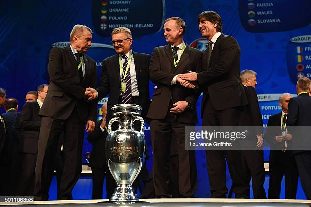 Group C managers Volodymyr Onyshchenko assistant coach of Ukraine Adam Nawalka Manager of Poland Michael O'Neill Manager of Northern Ireland and...