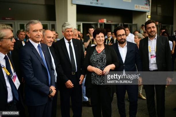 LVMH Group CEO Bernard Arnault chairman and CEO of Orange Stephane Richard Publicis Group Directory Board Chairman Maurice Levy French Minister of...