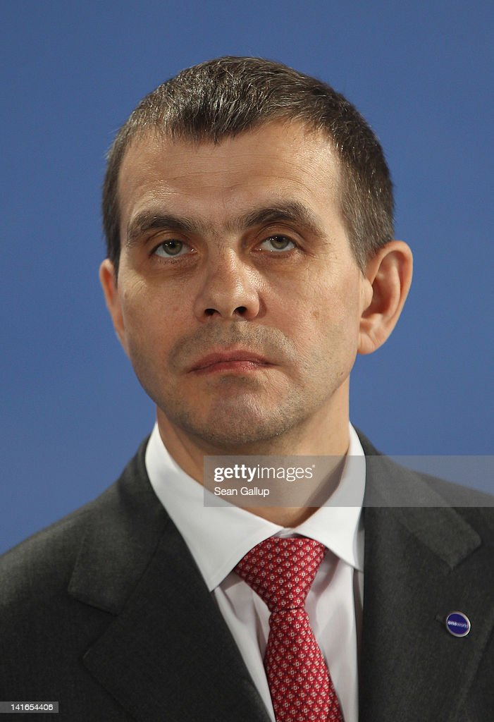 S7 Group CEO Vladislav Filev attends the official signing of a document confirming Air Berlin's acceptance into the oneworld alliance at Berlin Brandenburg Airport on March 20, 2012 in Berlin, Germany. Air Berlin joins 10 other international airlines in the alliance.