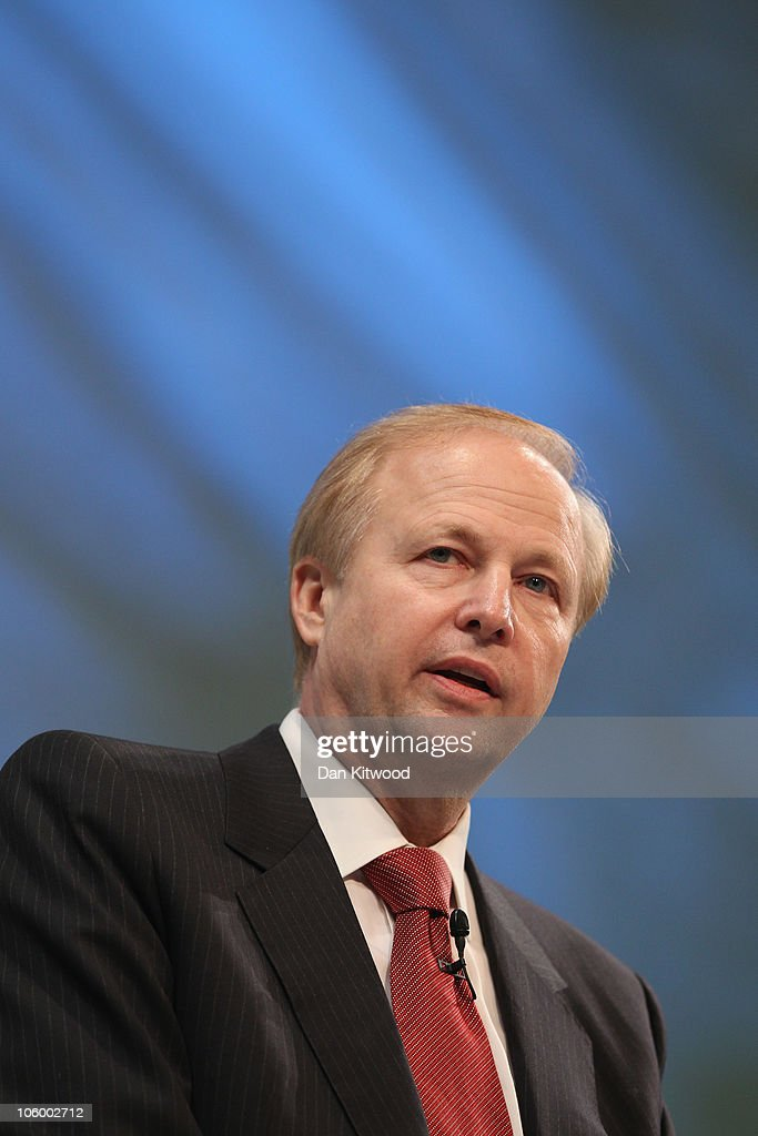 Group Chief Executive of BP, <a gi-track='captionPersonalityLinkClicked' href=/galleries/search?phrase=Bob+Dudley&family=editorial&specificpeople=7055366 ng-click='$event.stopPropagation()'>Bob Dudley</a> addresses Confederation of British Industry, (CBI), members at the annual CBI conference at the Grosvenor Hotel on October 25, 2010 in London, England. The CBI conference brings together leading politicians and business experts to discuss ways of delivering economic growth.
