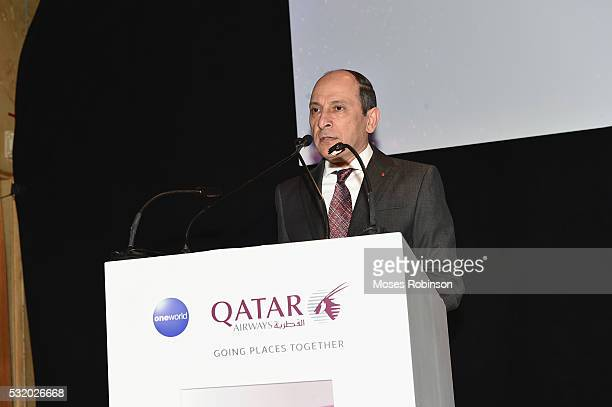 Group Chief Executive Qtar Airways HE Akbar Al Baker attends at Qatar Airways Gala at the Fox Theatre on May 17 2016 in Atlanta Georgia