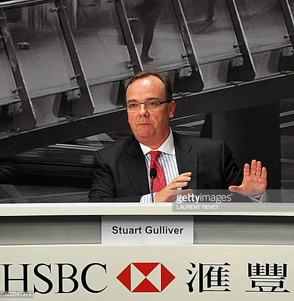 HSBC group chief executive Stuart Gulliver speaks during a press conference in Hong Kong on August 2 2011 Global banking giant HSBC said August 2 it...