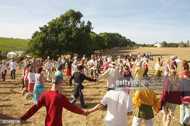 Group dance at a festival for Peace, Nantes, France