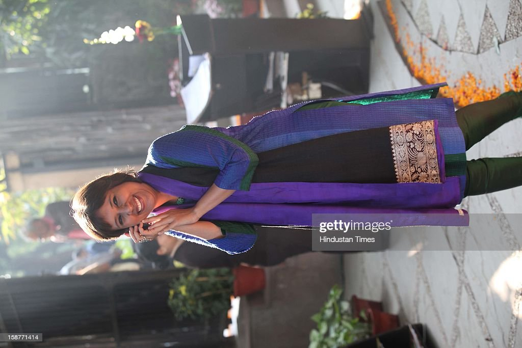 NDTV group editor Barkha Dutt during Christmas party thrown by communication guru Dilip and Devi Cherian at Lodi Garden on December 22, 2012 in New Delhi, India.
