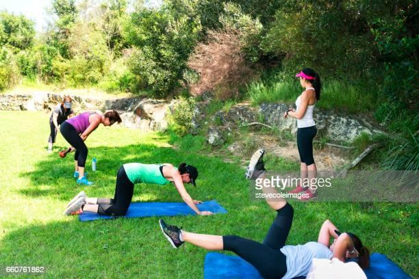Group Exercising Class