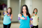 Group Fitness Class with Free Weights