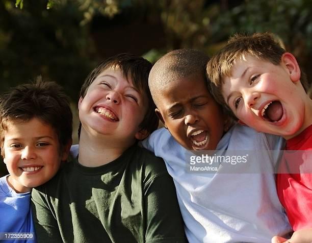 group four schoolboy friends