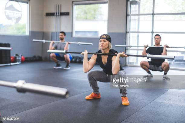 Group gym workout