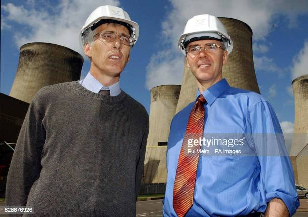 Group Head of Electrical Power Engineering at Powergen Power Technology Bob Nicholls and Engineering Manager at RatcliffeonSoar Power Station Dave...