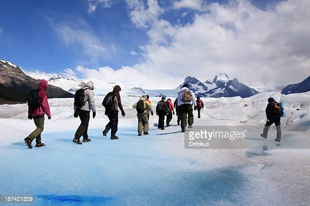 Group Hiking on Perito Moreno glacier