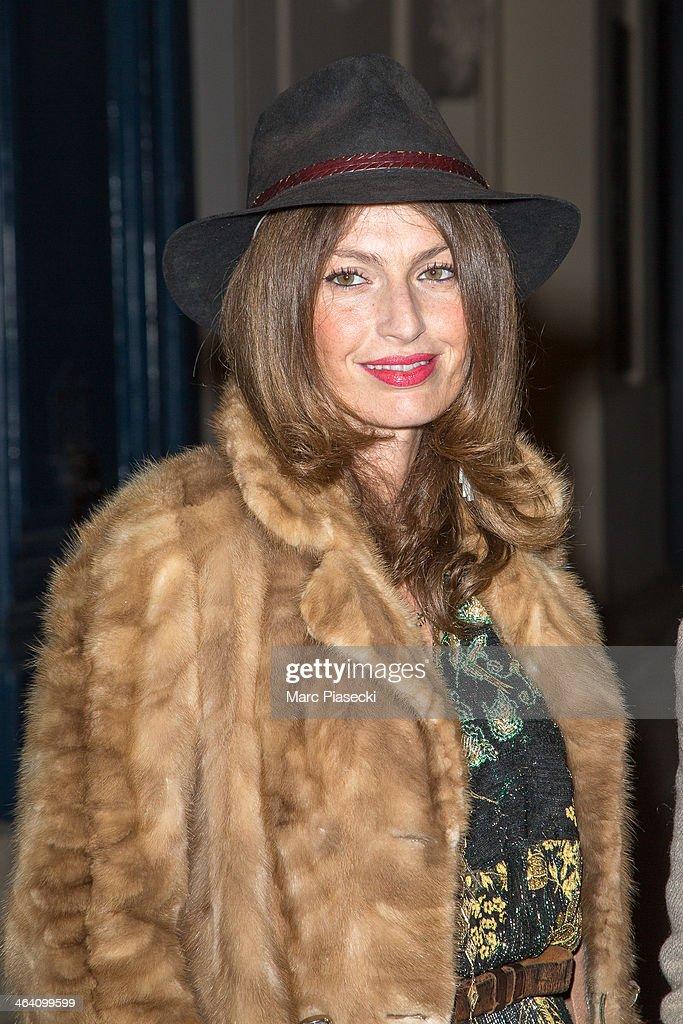 Group 'Les Brigittes' member Aurelie Saada arrives at the Alexis Mabille show as part of Paris Fashion Week Haute-Couture Spring/Summer 2014 on January 20, 2014 in Paris, France.
