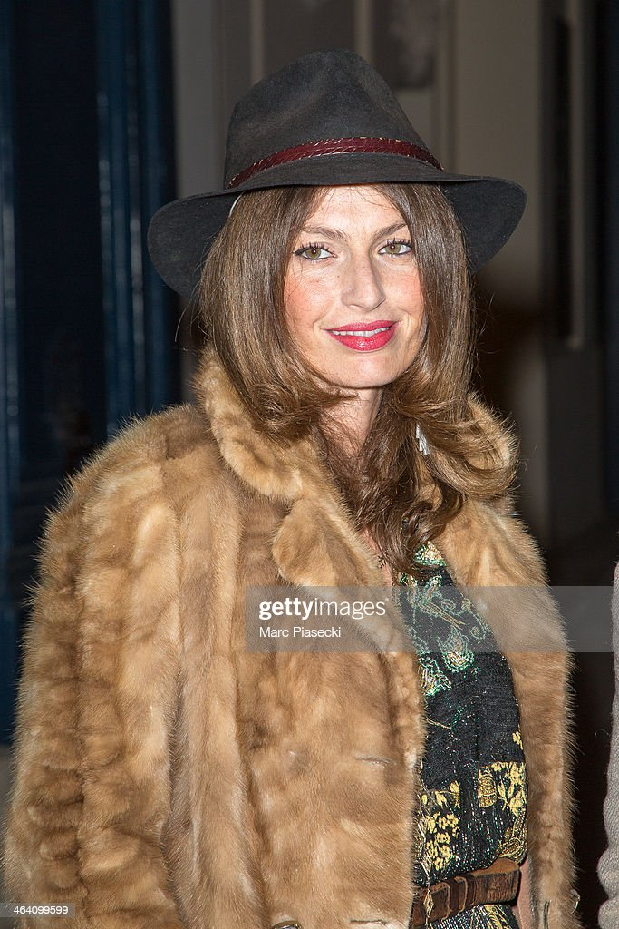 Group 'Les Brigittes' member Aurelie Saada arrives at the Alexis Mabille show as part of Paris Fashion Week Haute-Couture Spring/Summer 2014 on January 20, 2014 in Paris, France.