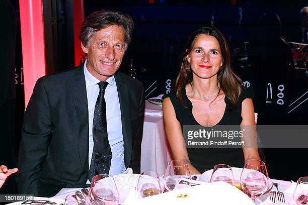 CEO group M6 Nicolas de Tavernost and Guest attend 'Friends of Quai Branly Museum Society' dinner party at Musee du Quai Branly on September 9 2013...