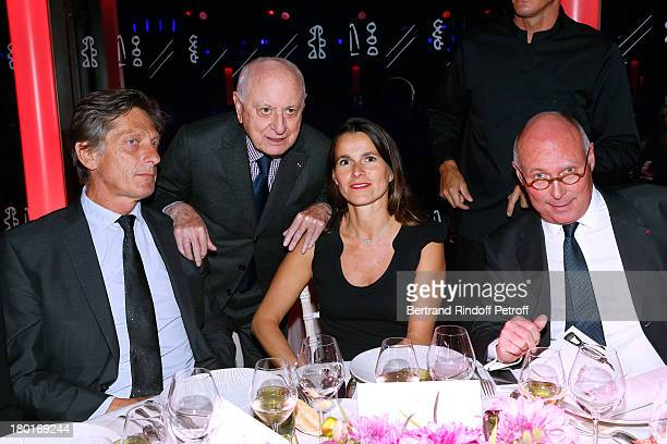 CEO group M6 Nicolas de Tavernost Pierre Berge Minister of Culture and Communication Aurelie Filippetti and CEO of Quai Branly Museum Stephane Martin...