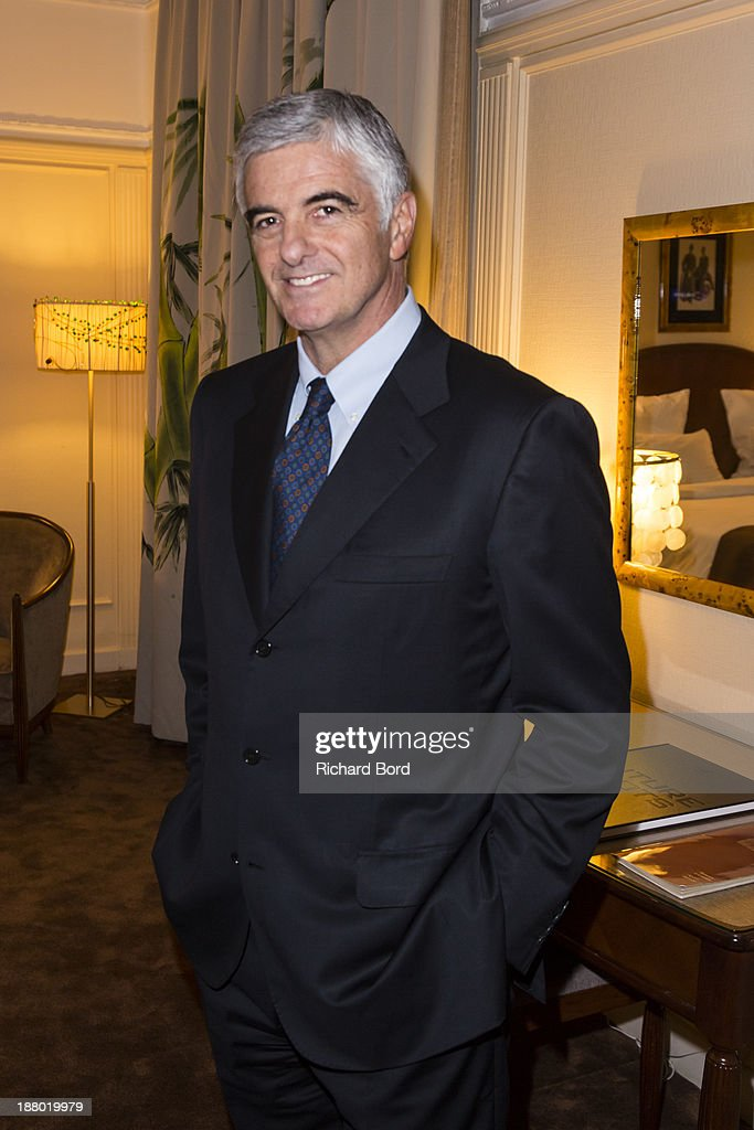 Group Managing Director Antonio Belloni poses in the Yi Zhou's 'Paradise Suite' at Hotel Lutetia on November 14, 2013 in Paris, France.