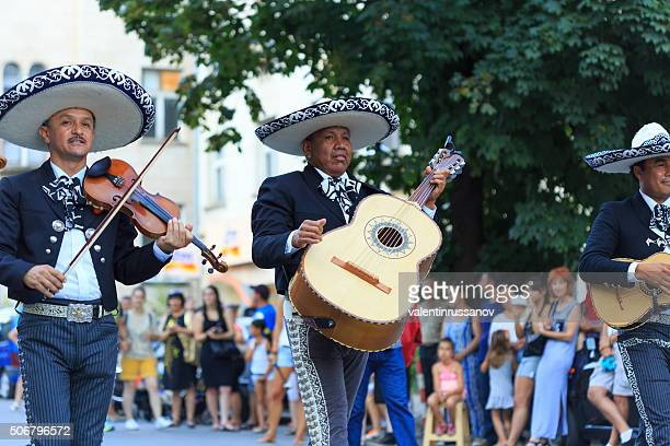 Group mariachi participating in festival