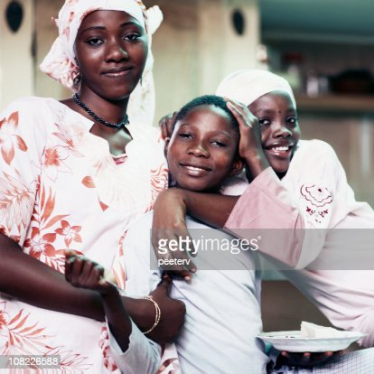 Group of African Children and Teenage Girl