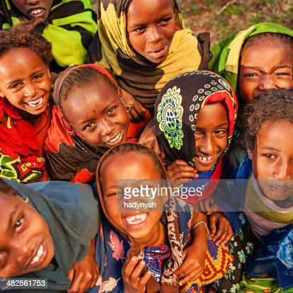 Group of African children, East Africa