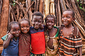 Group of happy African children - Ethiopia, East Africa