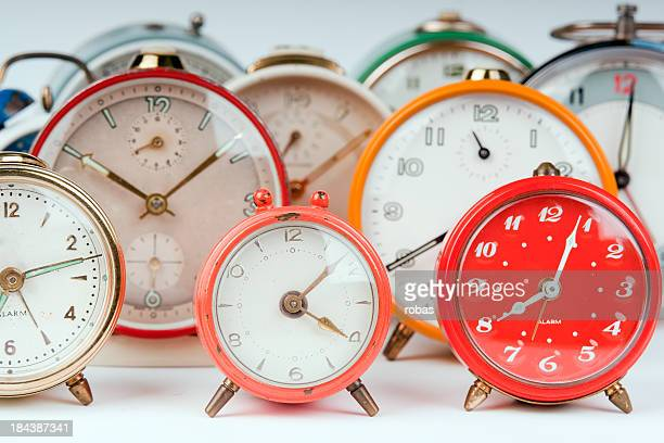 Group of alarm clocks