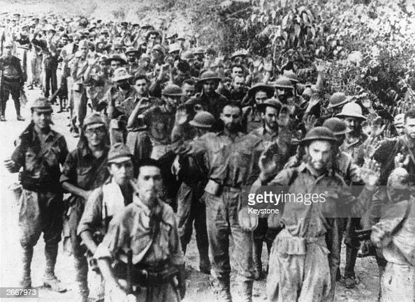 A group of American soldiers captured by the Japanese during the Battle of Java