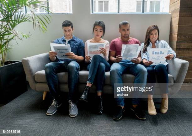 Group of applicants for an interview