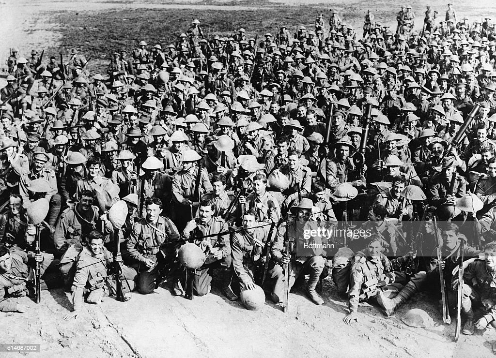 6/7/1916AUSTRALIANS IN FRANCE A group of Australians in France resting before going into the trenches