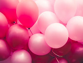 pink ballons background