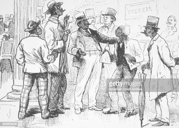 A group of black delegates from South Carolina and Florida attend the Republican National Convention in Chicago Illinois 1880
