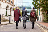 Group Of British Muslim Businesswomen Returning To Office