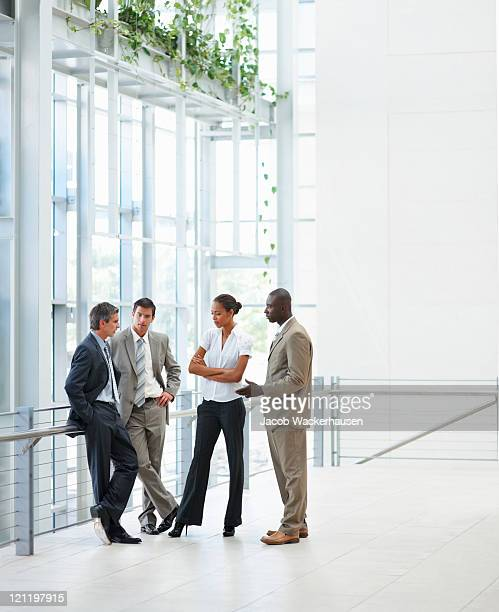 Group of business colleagues having a discussion